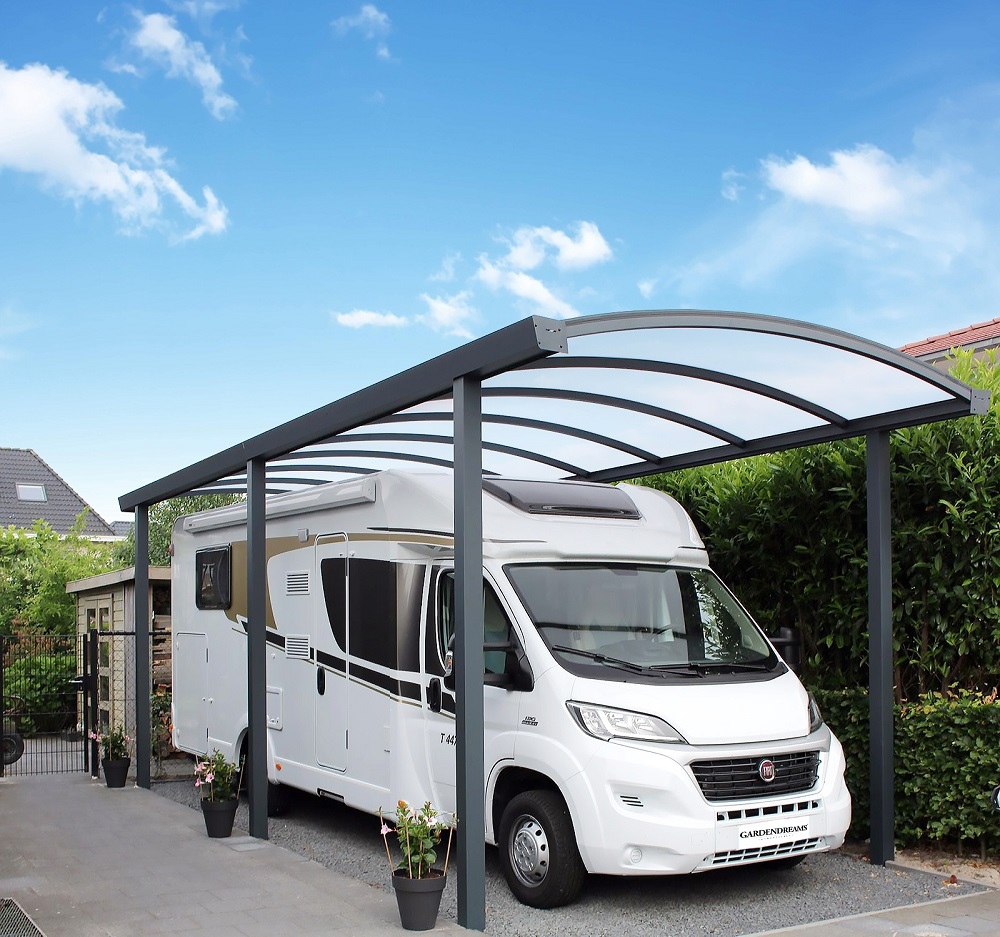 Double Arched Aluminium Carport