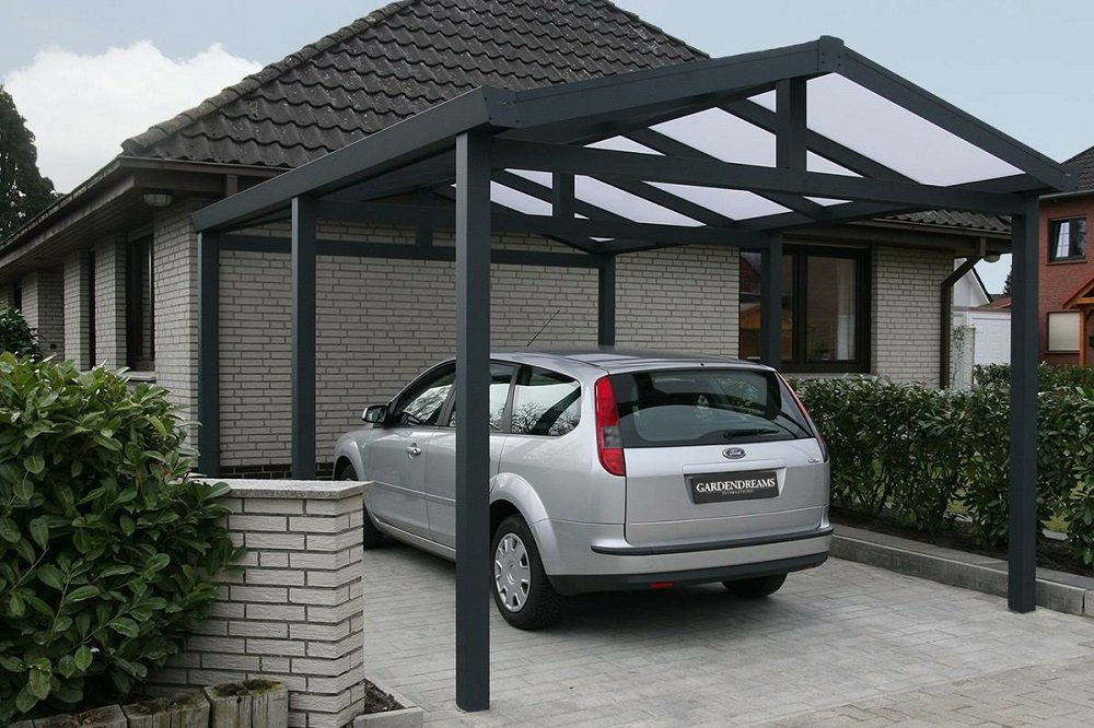 Aluminium Single Apex Carport