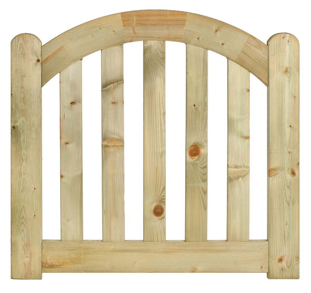 Single arched garden gate