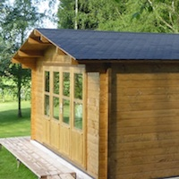 Free shinlges with Log Cabins and Gazebos