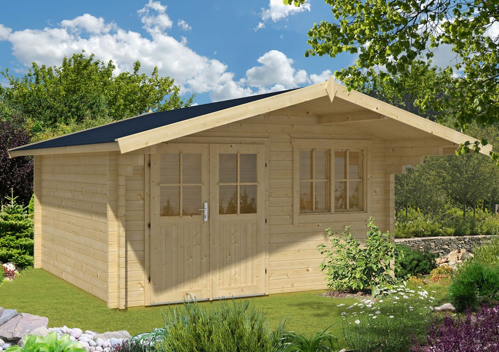 Stian  log cabin, double glazed in 58mm logs