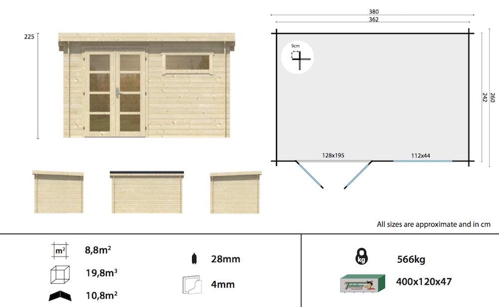 Uddel log cabin specification
