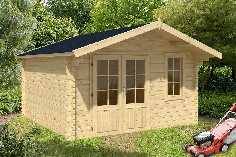 ulrik double glazed log cabin. Black Bedroom Furniture Sets. Home Design Ideas