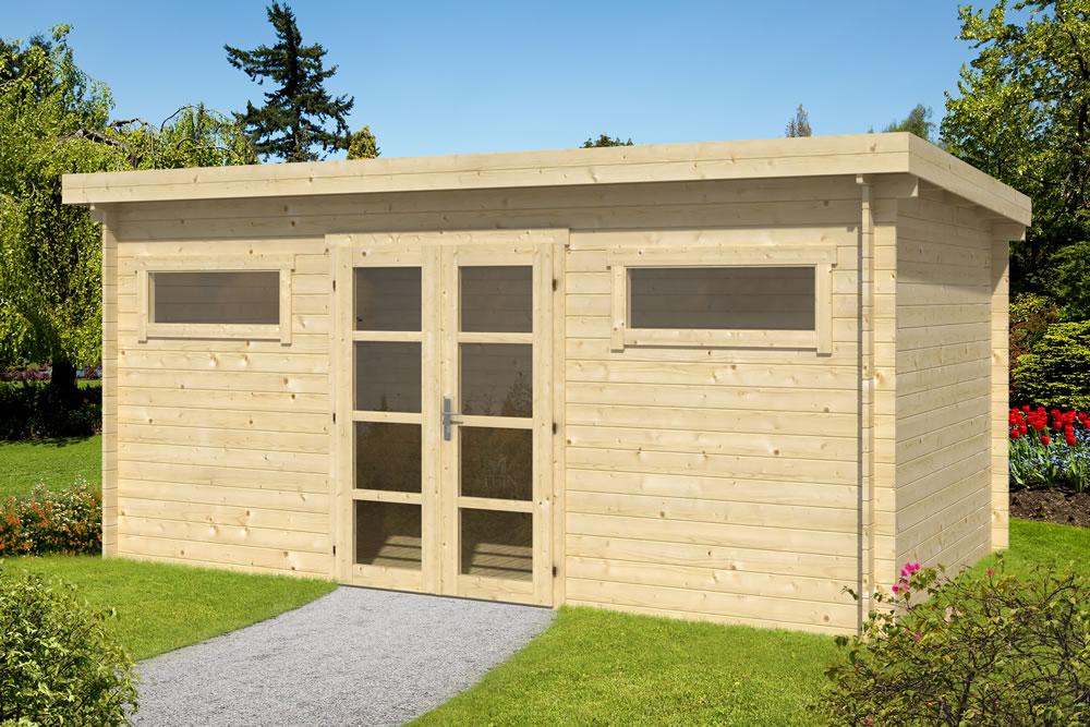 Zutphen flat roof log cabin