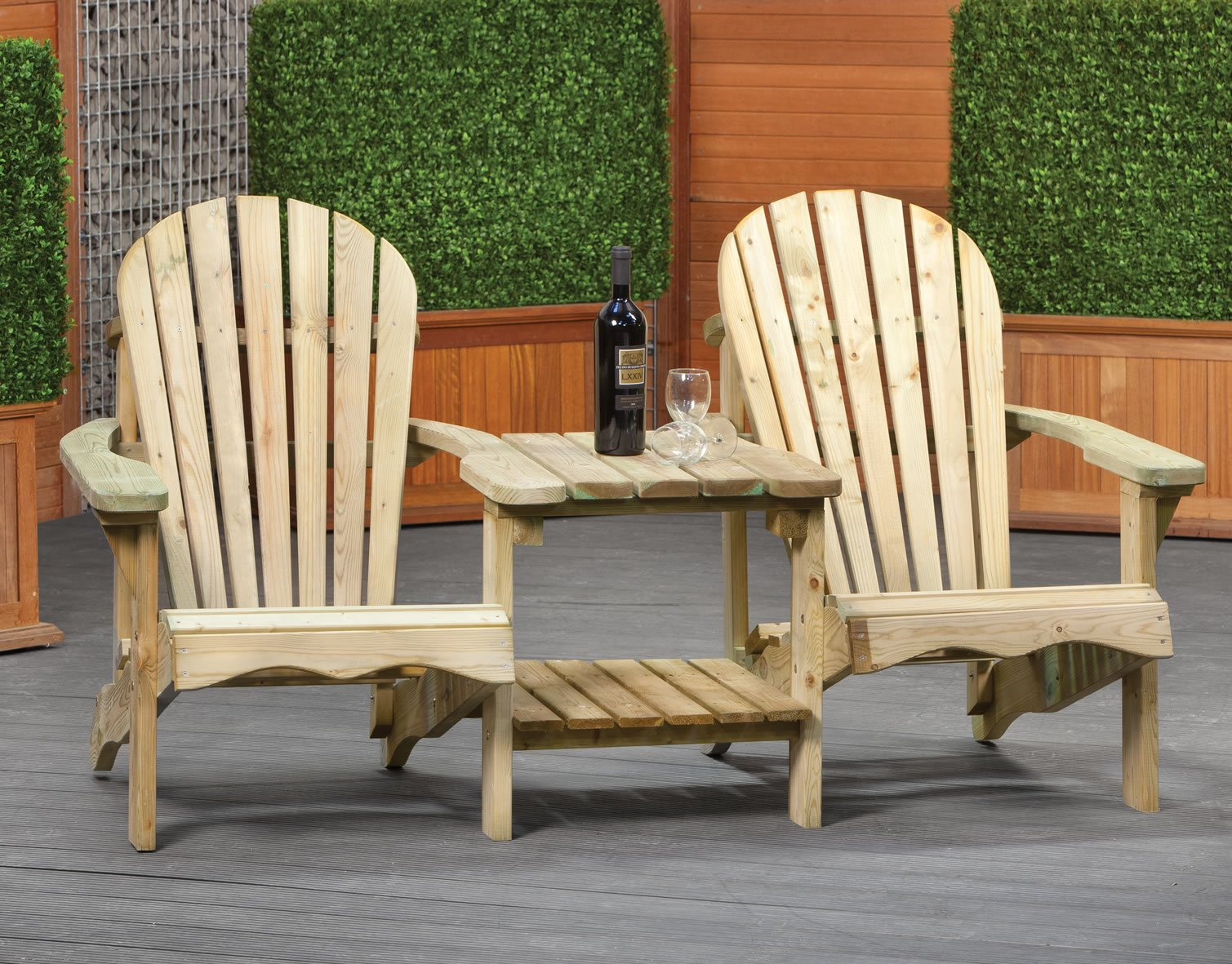 Adirondack love seat paris love seat for Garden love seat uk