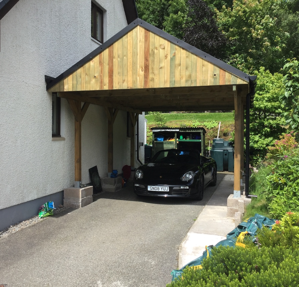 Attractive ... Apex Roof Timber Carport ...