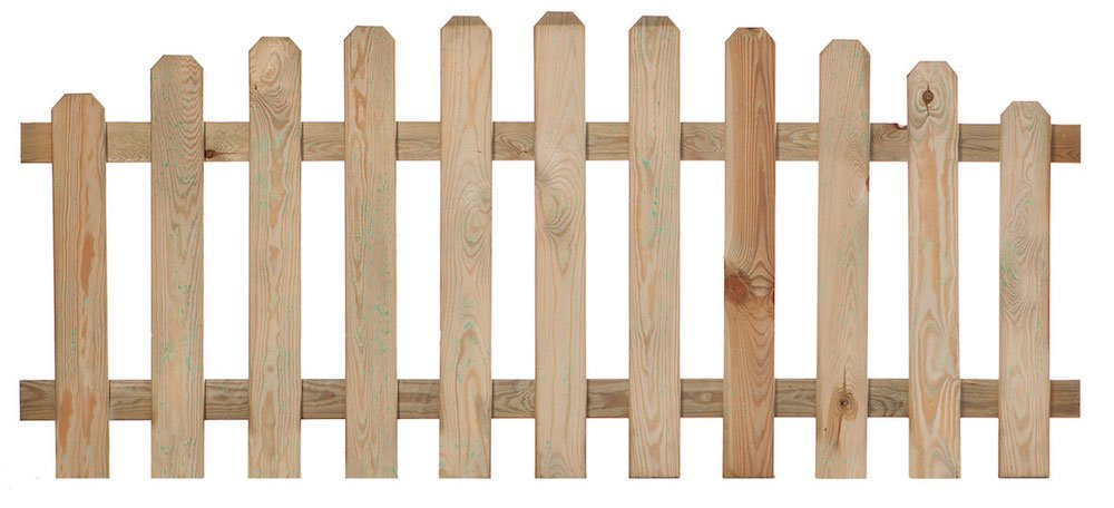 Arched picket fence