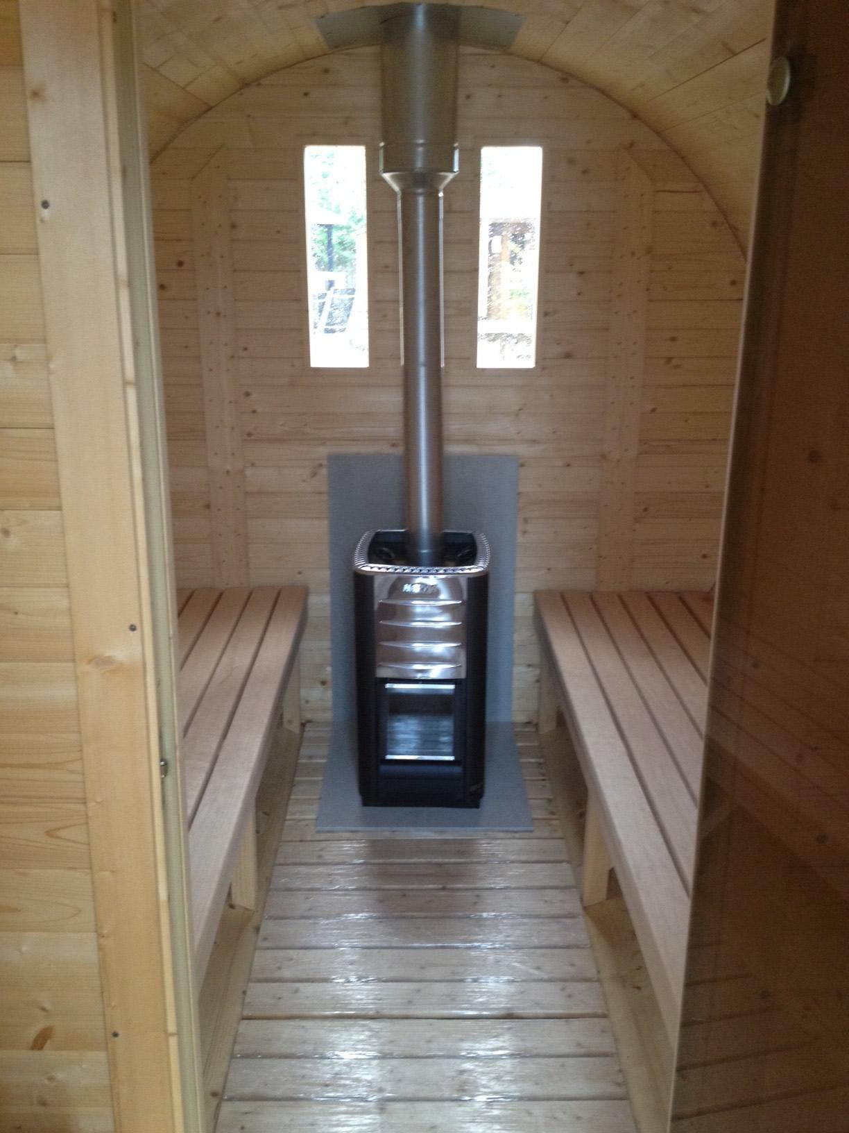 Barrel sauna stove