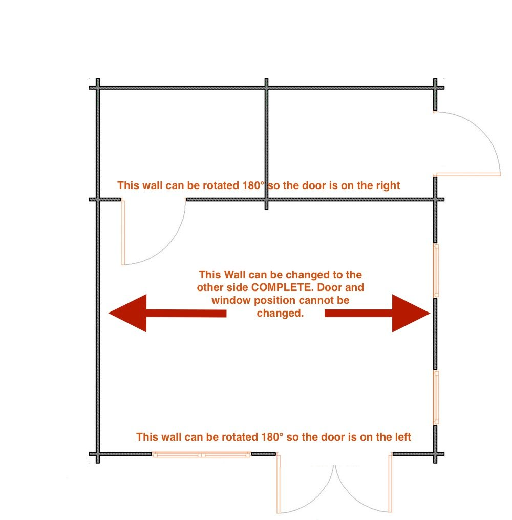 Berlin log cabin wall options
