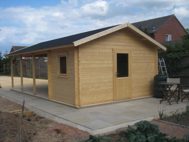 Log cabin carport - Ever