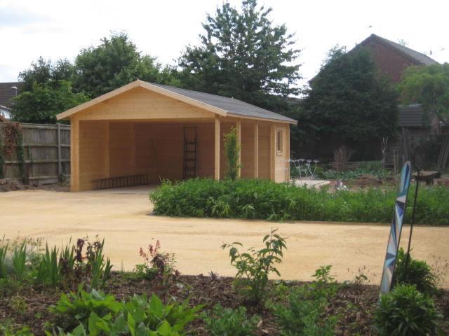 Log cabin carport - Ever