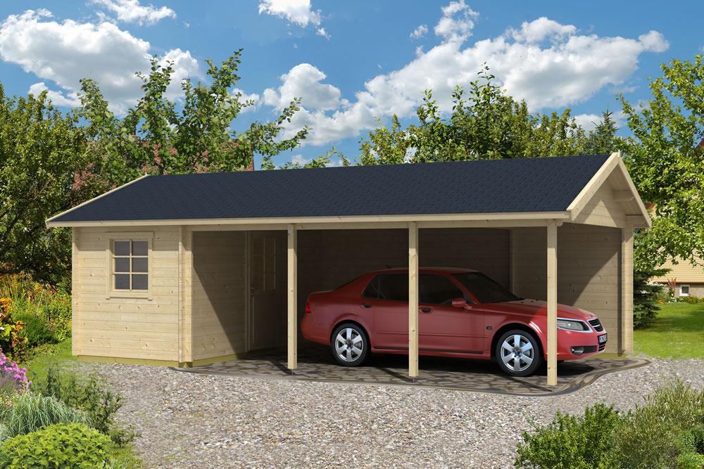 Log cabin carport ever for Log carports