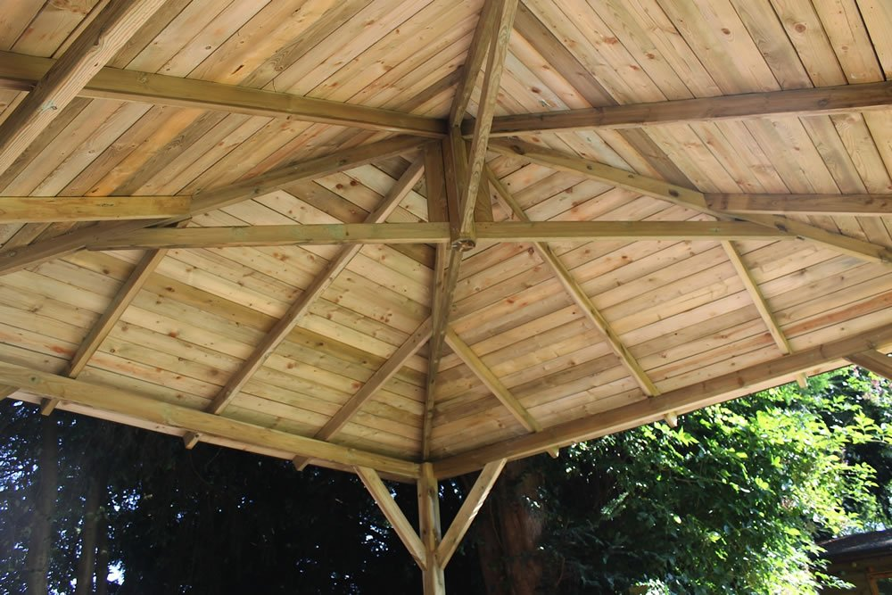 Classico wooden gazebo roof construction