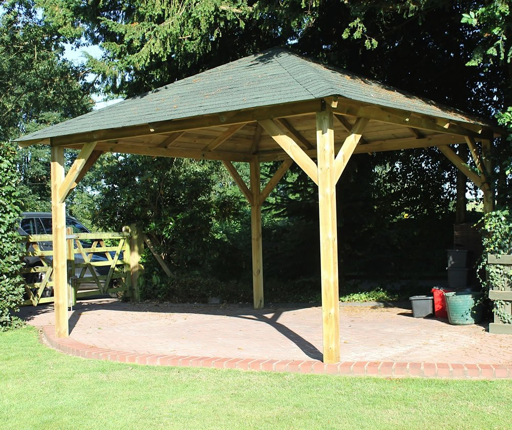 Classico Timber Gazebo 4 3x4 3m