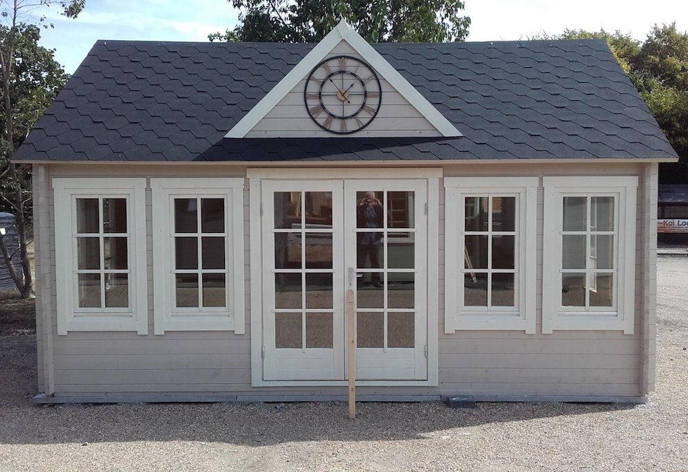 Clockhouse 45mm double glazed log cabin