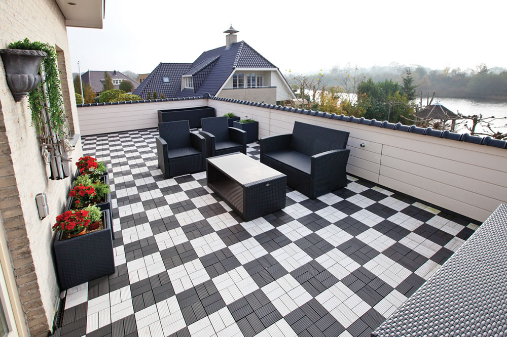 Composite Garden Decking Tile