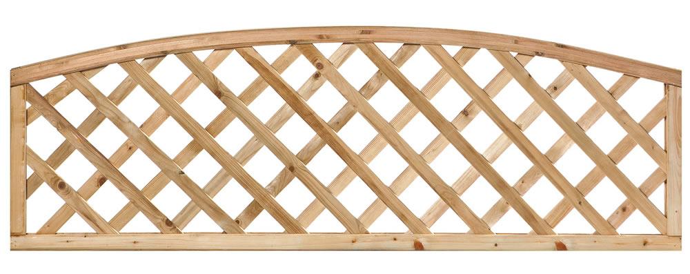 Arched framed Diagonal trellis