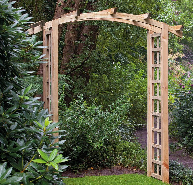Garden arch arches garden arches wooden garden arches for Timber garden arch designs