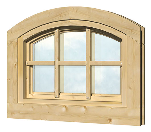 40.2007 Curved window L7 - 70 x 50cm