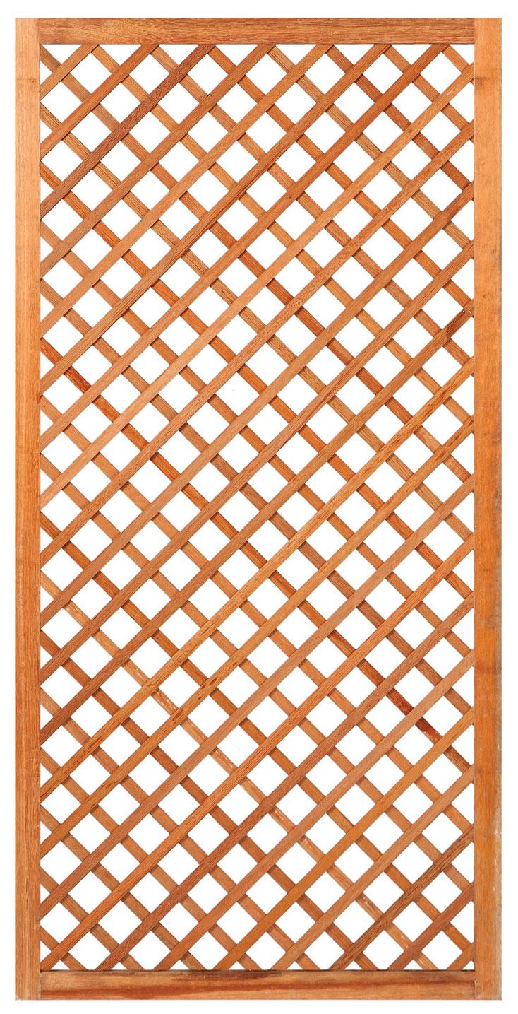 Hardwood diagonal trellis 90cm