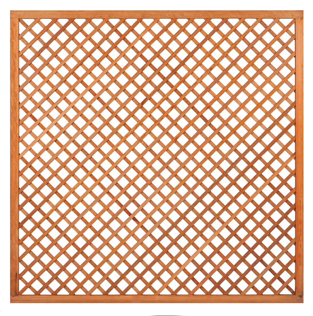 Diagonal hardwood trellis 180