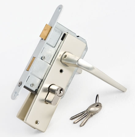 Log cabin door lock
