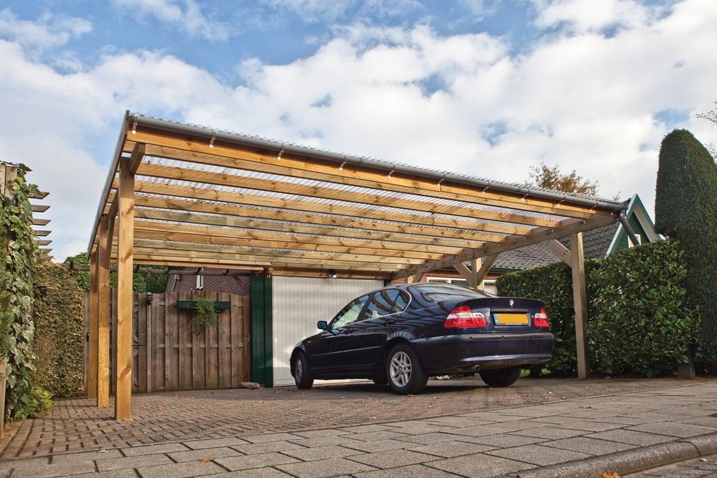 Double free standing carport for Carport blueprints