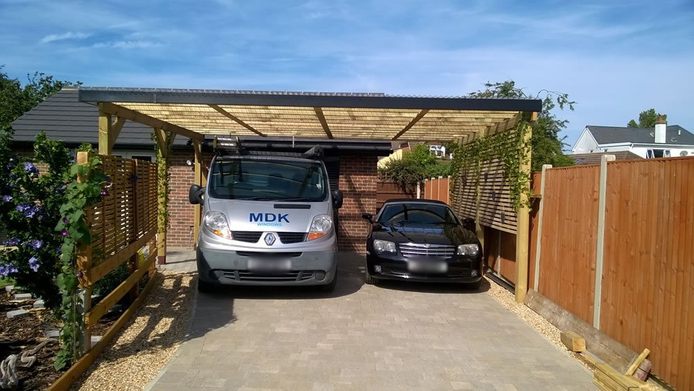 Double free standing carport for Double car carport