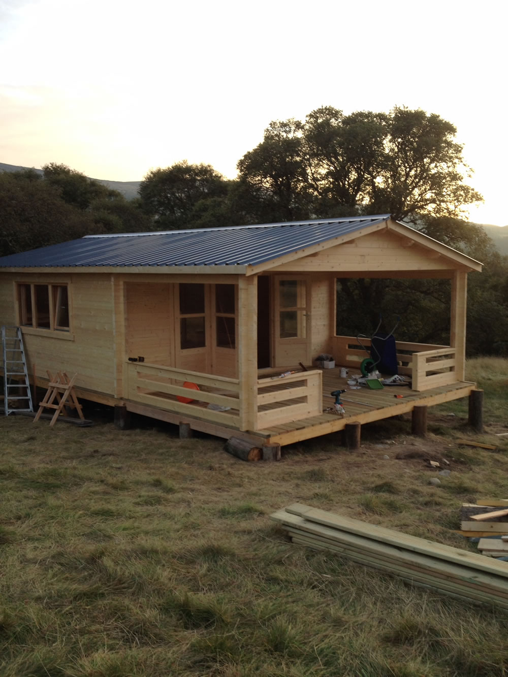 Double glazed 58mm log cabin