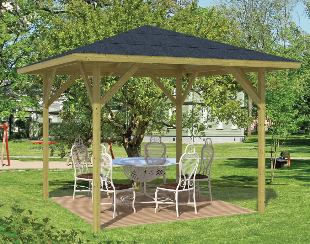 22 amazing gazebos wooden frame. Black Bedroom Furniture Sets. Home Design Ideas