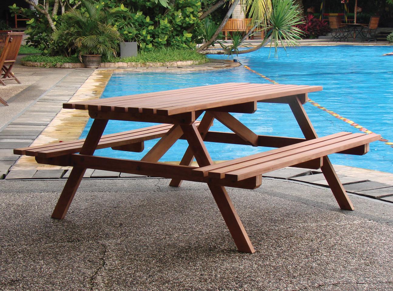 Economy Hardwood Picnic Table