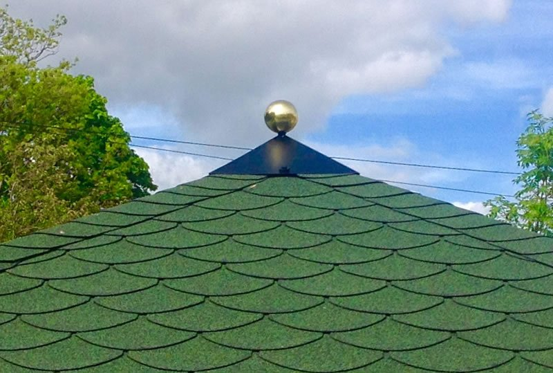 Finial with optional brass ball