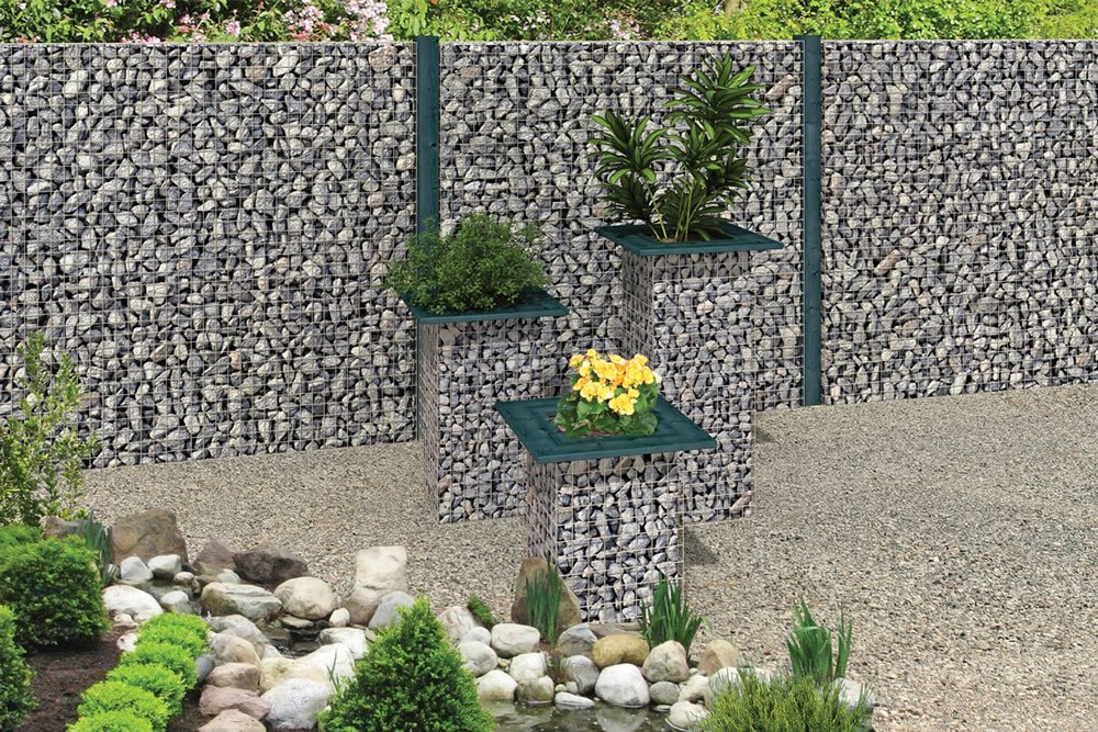 Gabion fence using our system