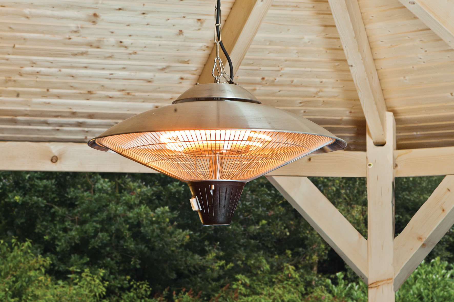 Garden building ceiling mounted heater