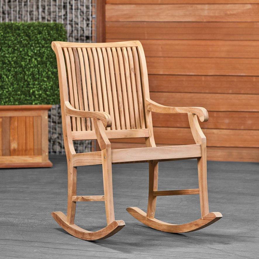 Hardwood garden rocking chair