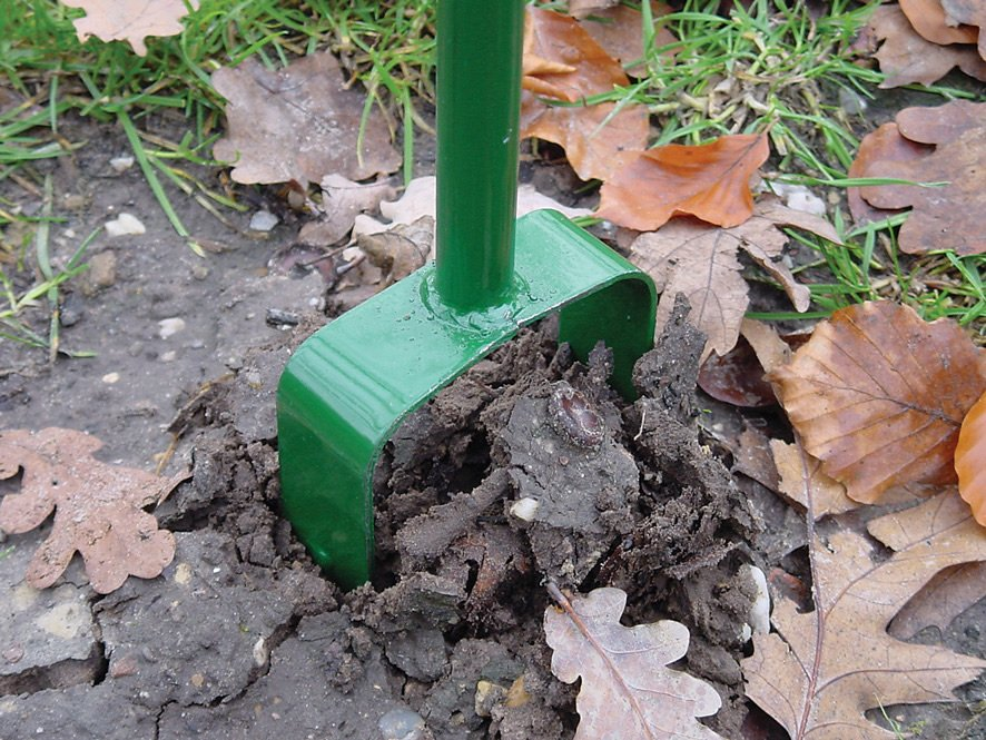 Ground bore for fence posts