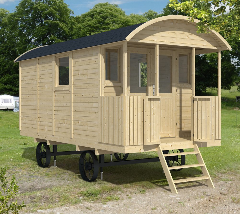 Shepherd hut gypsy caravan for Garden hut sale