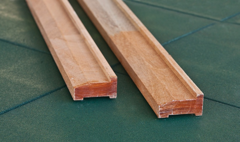 Hardwood foundation beams