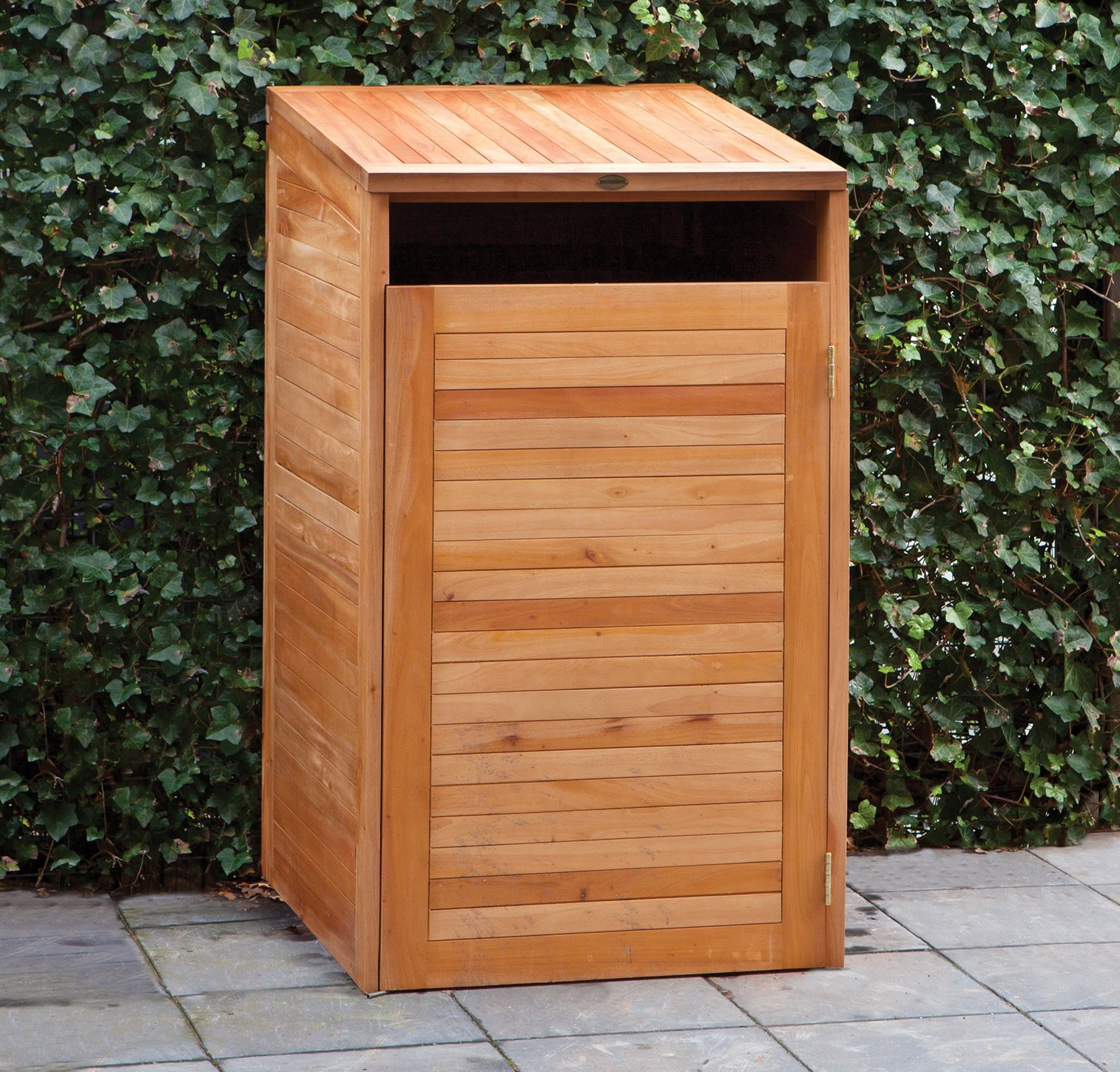 Single Hardwood wheelie bin store ... & Hardwood Single Wheelie Bin Store