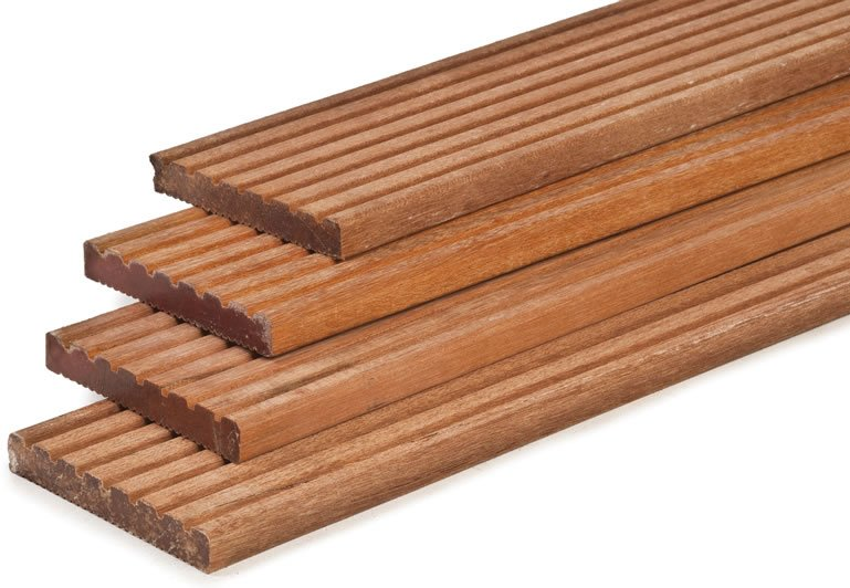 Hardwood decking boards 25mm thick for Smooth hardwood decking boards