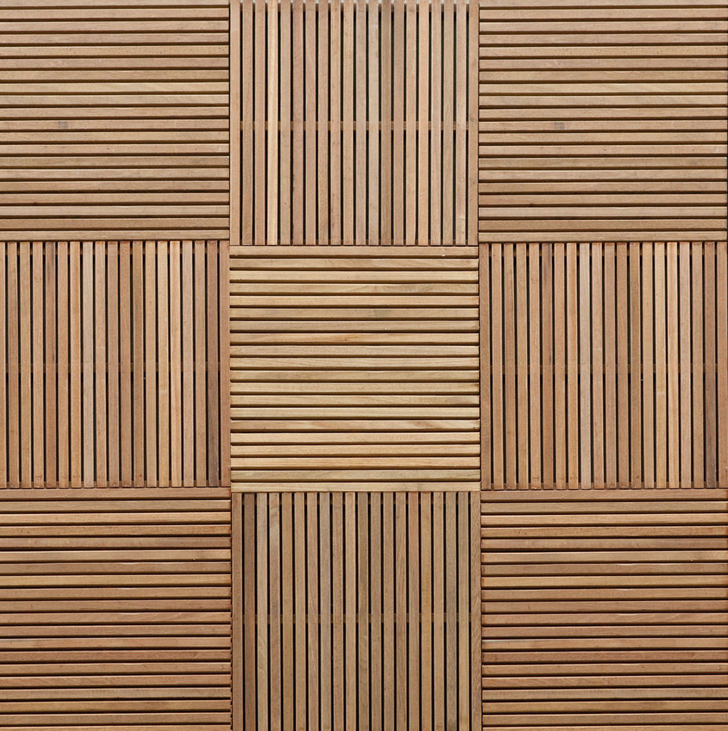 Subaya hardwood garden decking tile for Hardwood floor panels