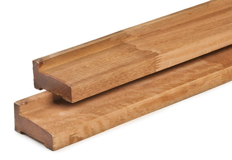 Hardwood foundation beams for log cabins
