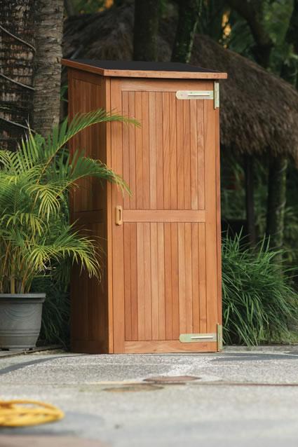 Hardwood storage shed