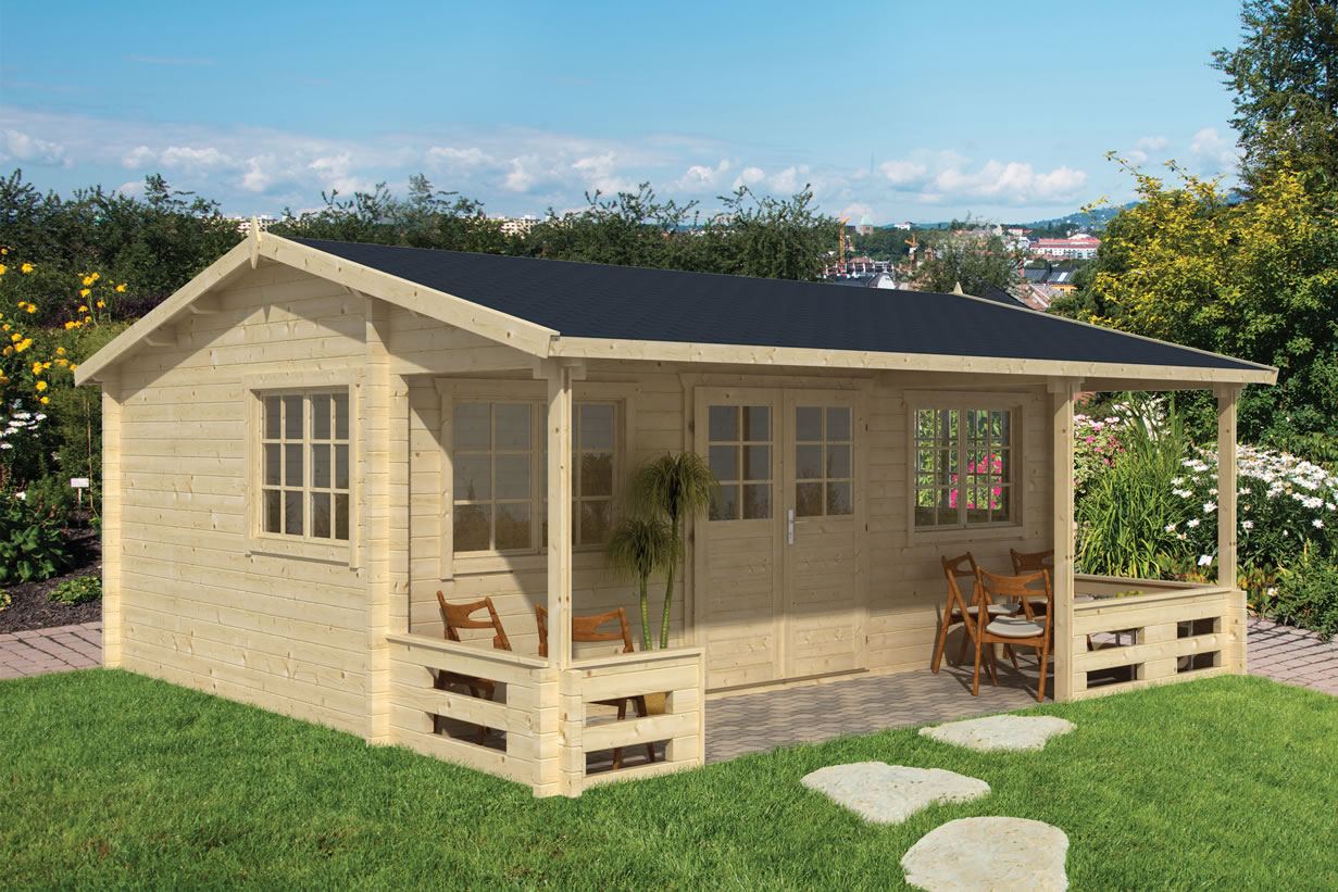 Henning log cabin, ideal for use as a garden office