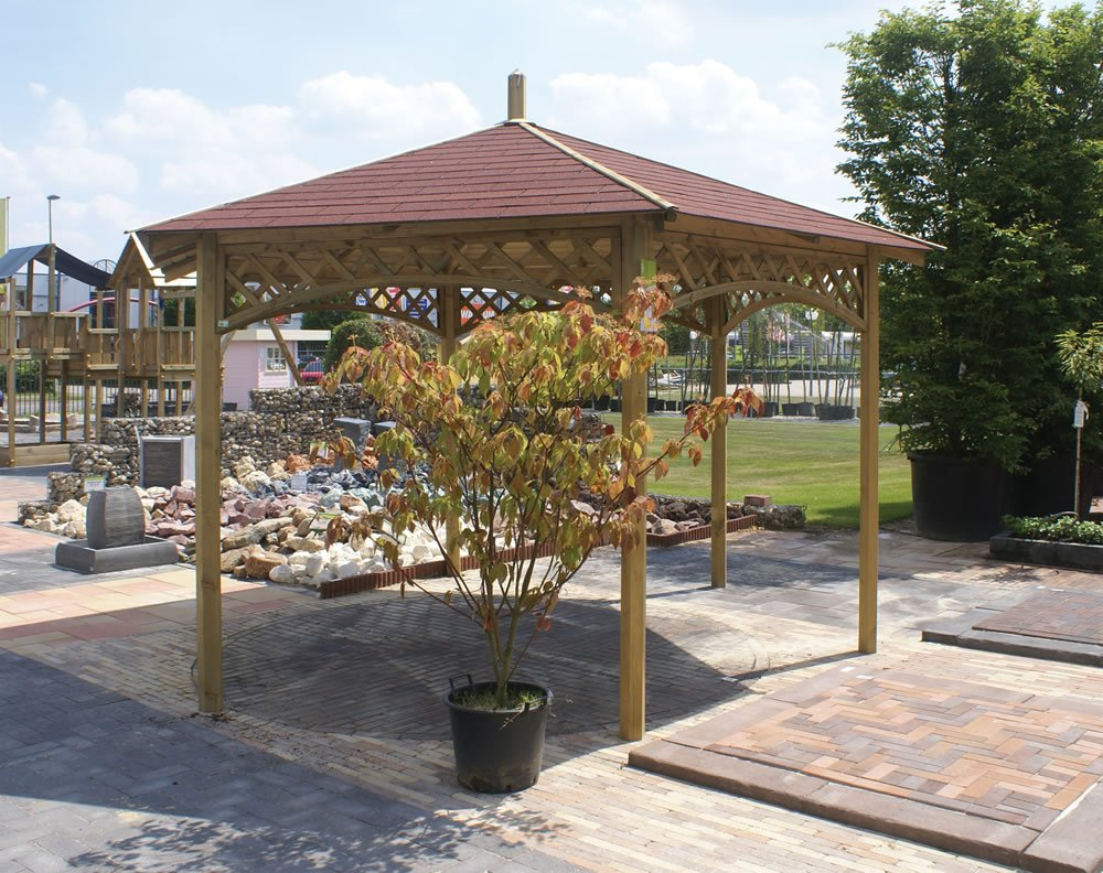 Large hexagonal gazebo 4m diameter for Large wooden gazebos