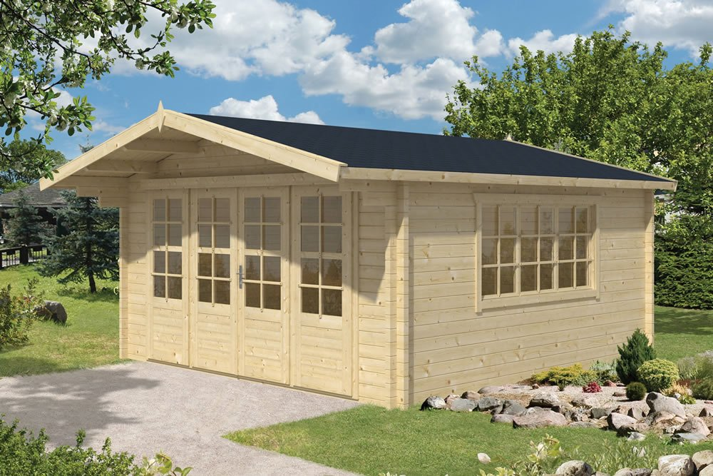 Southampton 58mm log cabin