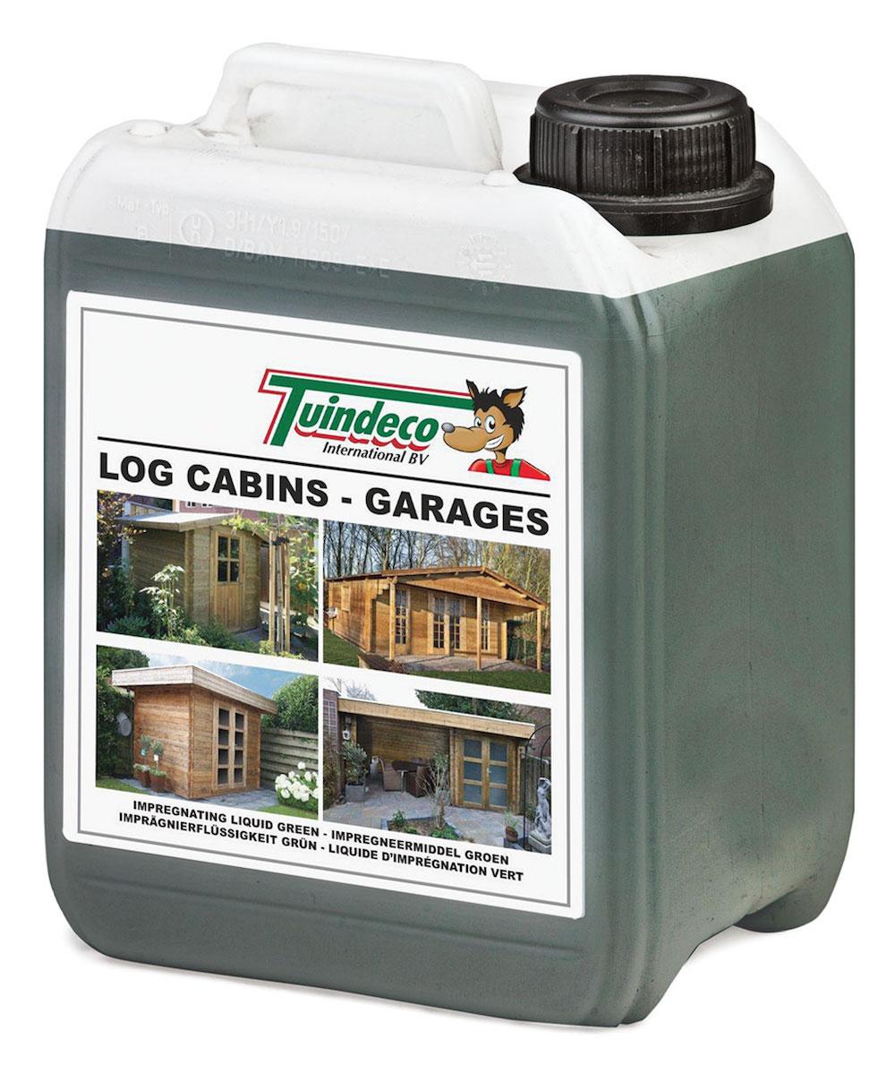 Impregnation fluid for log cabins