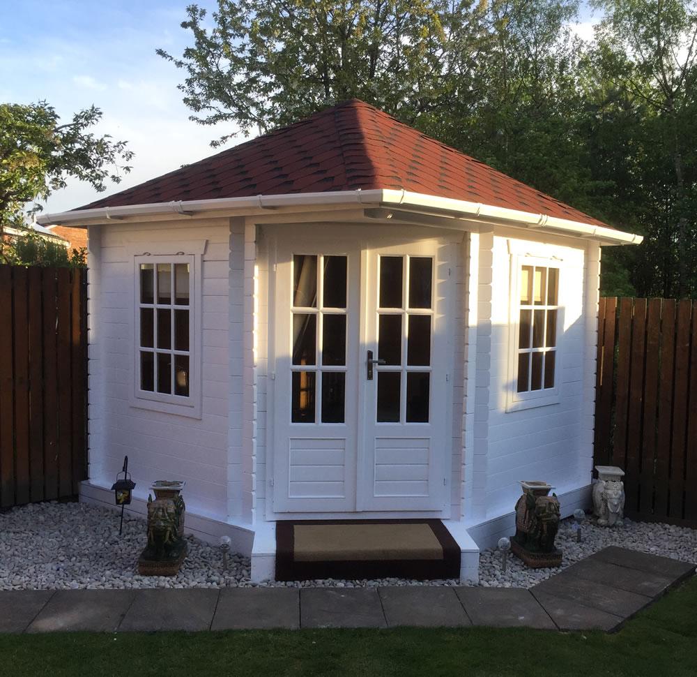 Ingrid Corner Log Cabin Summerhouse 3x3m