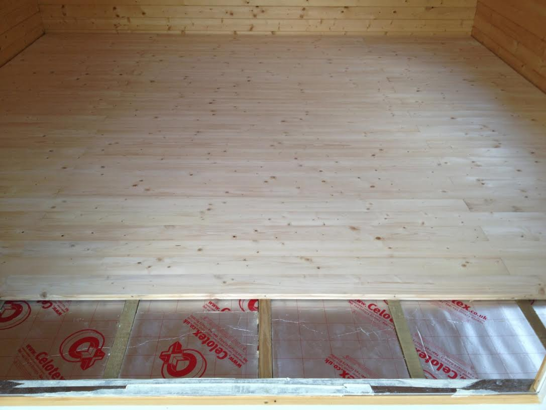 Insulated Floor - Note the secret nailing!