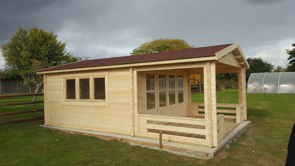 Ipswich log cabin 58mm double glazed